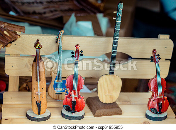 Set of models of wooden musical instruments - csp61955955
