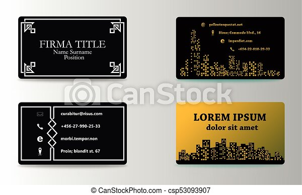 Set of modern business card print templates personal vector set of modern business card print templates personal visiting card with company logo trending reheart Image collections