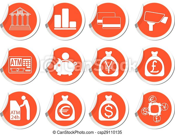 Set of money icons - csp29110135