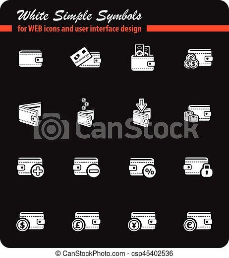 set of money icons - csp45402536
