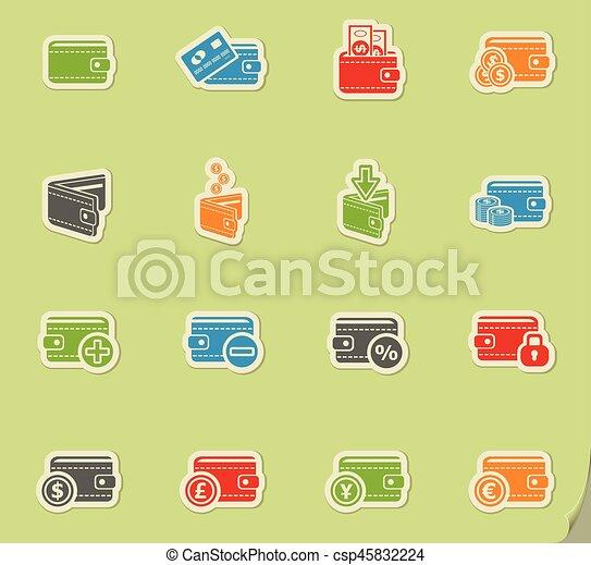 set of money icons - csp45832224