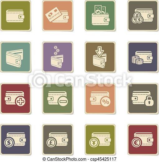 set of money icons - csp45425117