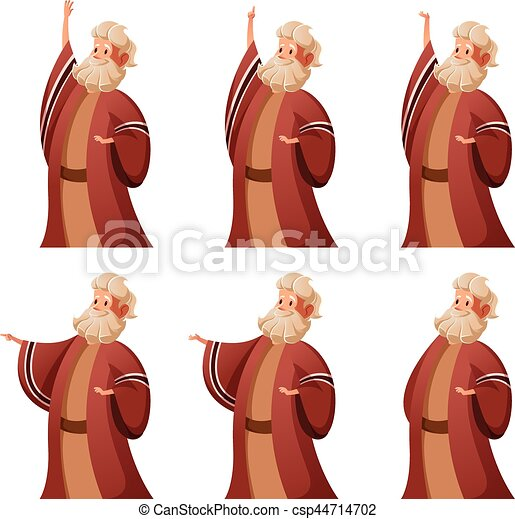 Set of Moses icons - csp44714702