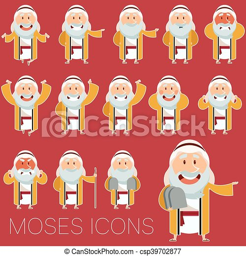 Set of Moses icons2 - csp39702877