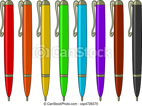 Set of multicoloured pens - csp4726370