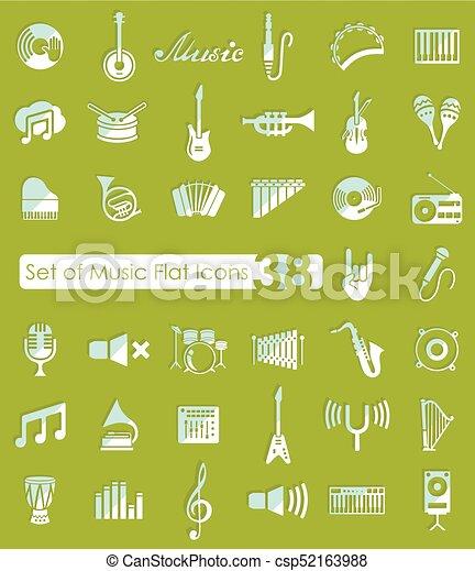 Set of music icons - csp52163988