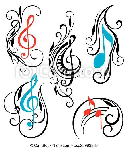 set of music notes vector music elements vectors search clip art rh canstockphoto com music vector packages for sale music vector icon