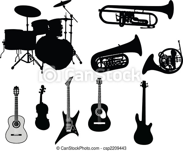 set of musical instruments - csp2209443