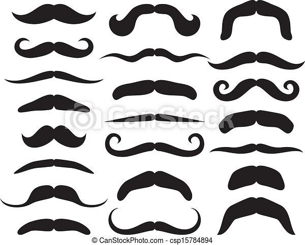 Set of mustache - csp15784894