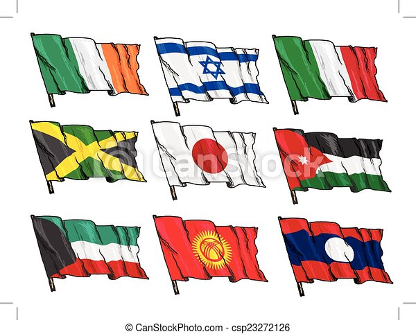 set of national flags - csp23272126