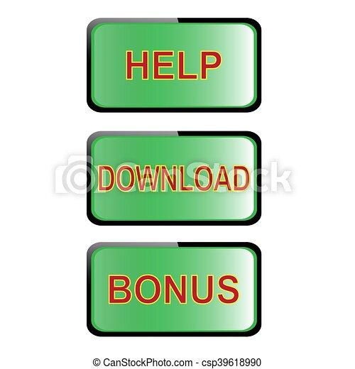set of navigation buttons - csp39618990