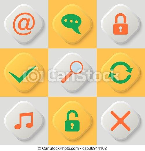 Set of nine web icons - csp36944102