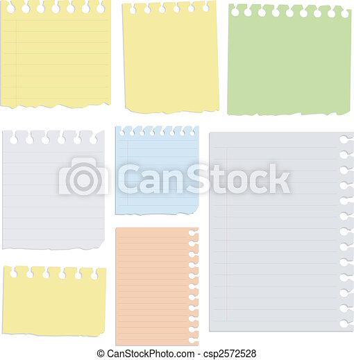 Set of notepad sheets. - csp2572528