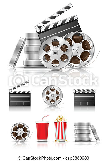 set of objects for cinematography - csp5880680