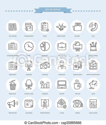 Set of Office Icons - csp35885666
