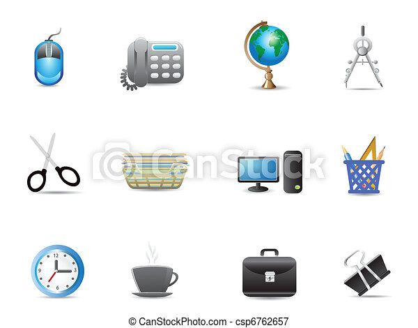 set of office tools icon - csp6762657