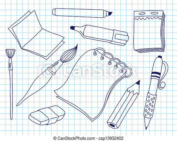 Set of office tools - csp13932402