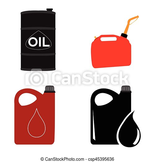 Set of oil containers - csp45395636