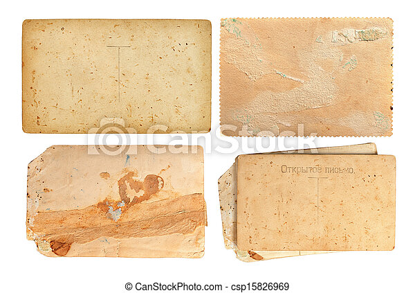 set of old paper sheets - csp15826969