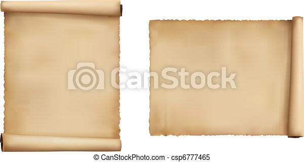 Set of old paper sheets. Vector.  - csp6777465