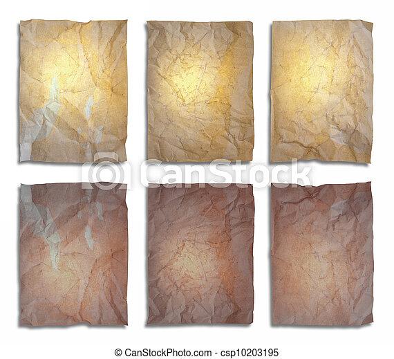 set of old paper - csp10203195