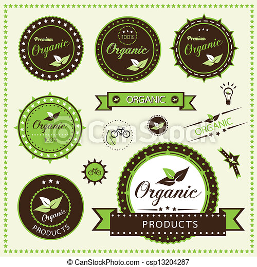 Set of organic labels - csp13204287