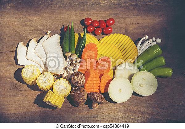 set of Organic vegetables - csp54364419