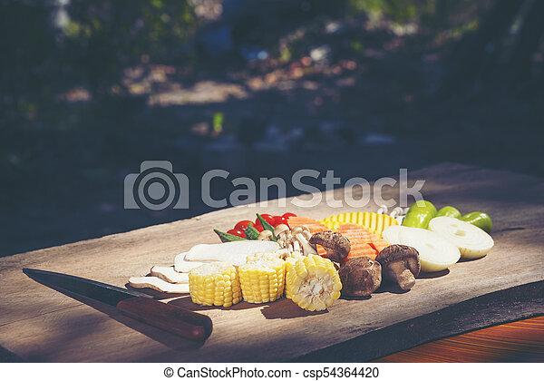 set of Organic vegetables - csp54364420