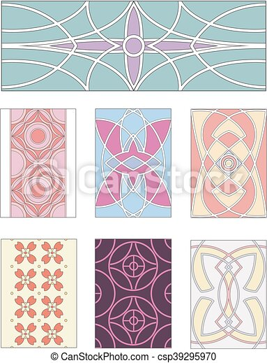 Set of ornamental patterns in mannerism style - csp39295970