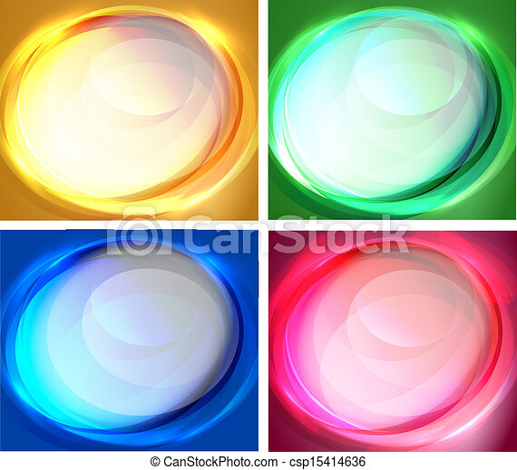 Set of oval backgrounds - csp15414636