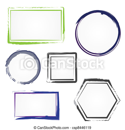 Set of painted frames - csp8446119