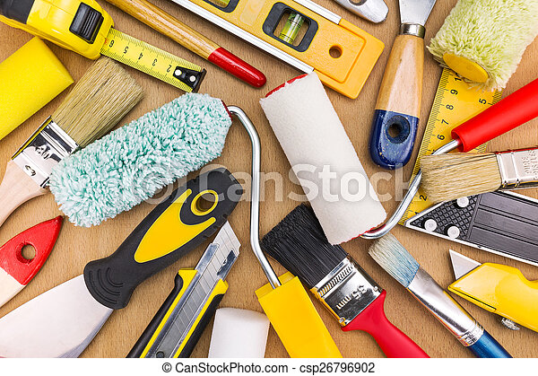 Set of painting tools - csp26796902