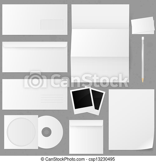 Set of paper envelopes. Vector illustration. - csp13230495