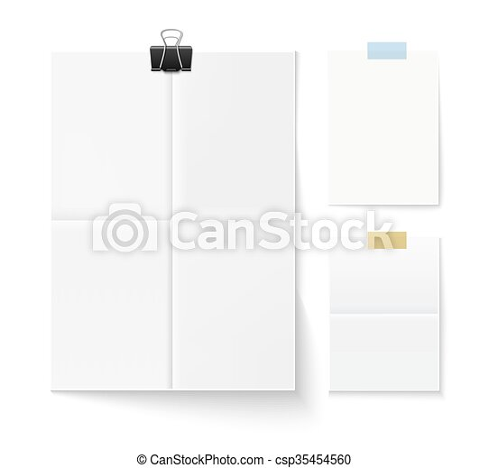 Set of paper pages - csp35454560