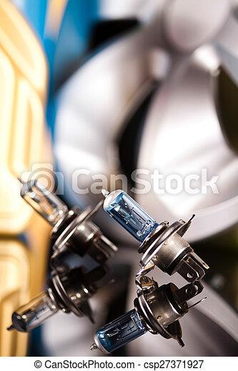 Set of parts car on vivid moto concept - csp27371927
