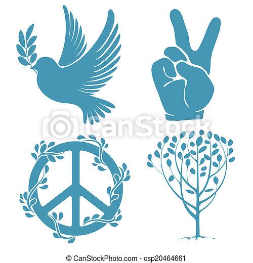 Set Of Peace Symbols Set Of Symbols For The International Clip