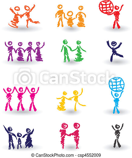 Set of people icons - csp4552009