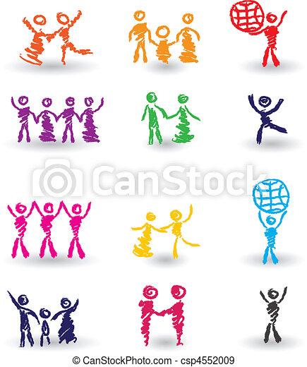 Set of people icons - csp4552009