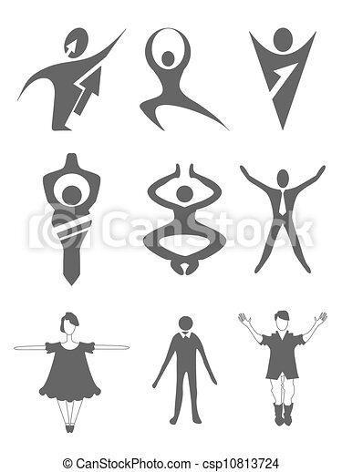 set of people icons - csp10813724