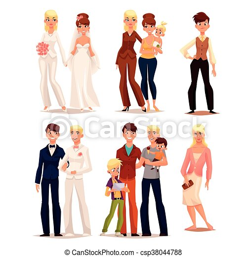 set of people with different sexual orientations - csp38044788