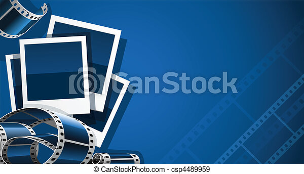 set of photo and video film picture - csp4489959