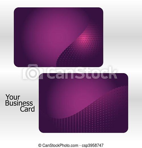 Set of pink business cards, part 8. Vector illustration  - csp3958747