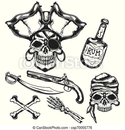 Set of pirat elements - csp70055776