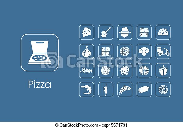 Set of pizza simple icons - csp45571731