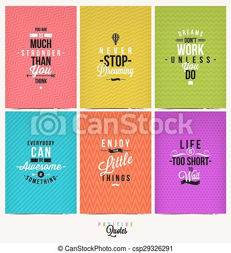 Set of Positive Quote - csp29326291