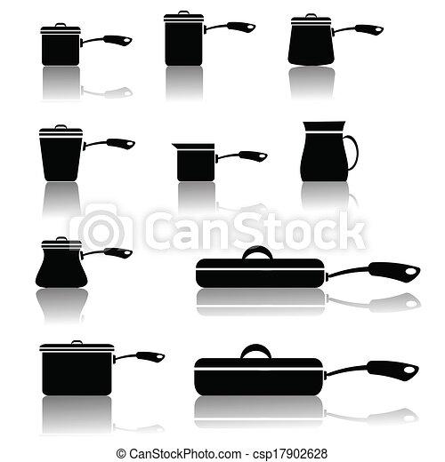 set of pots and pans - csp17902628