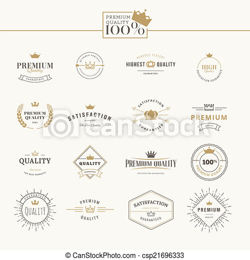 Set of premium quality labels - csp21696333