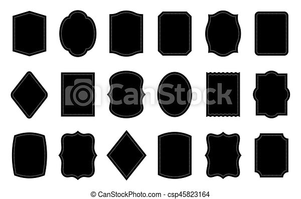 Set of product label templates  Different shapes