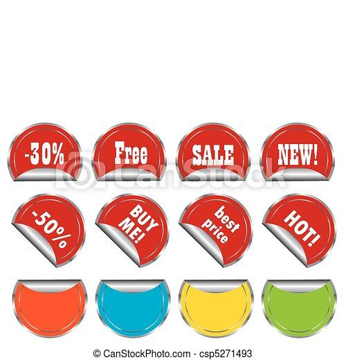 Set of promo stickers csp5271493