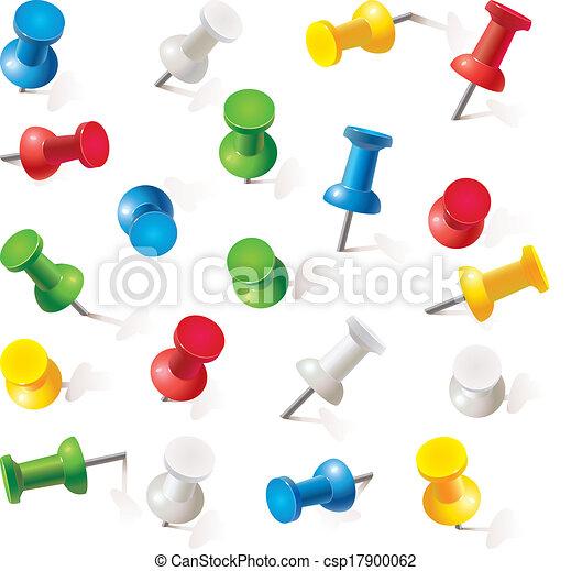 Set of push pins - csp17900062